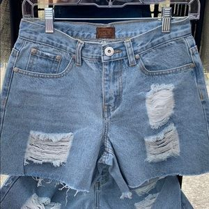 Pol Distressed Denim Shorts